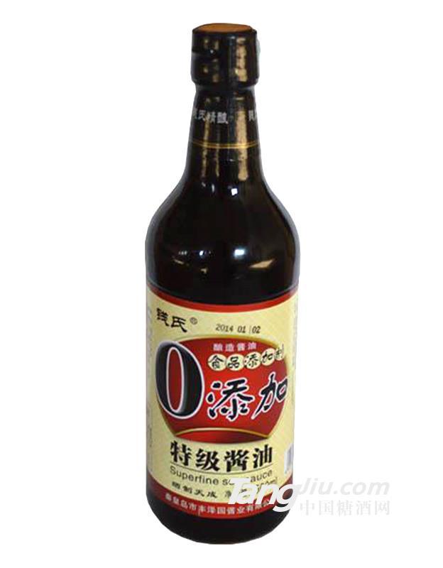 丰泽园0添加特级酱油500ml