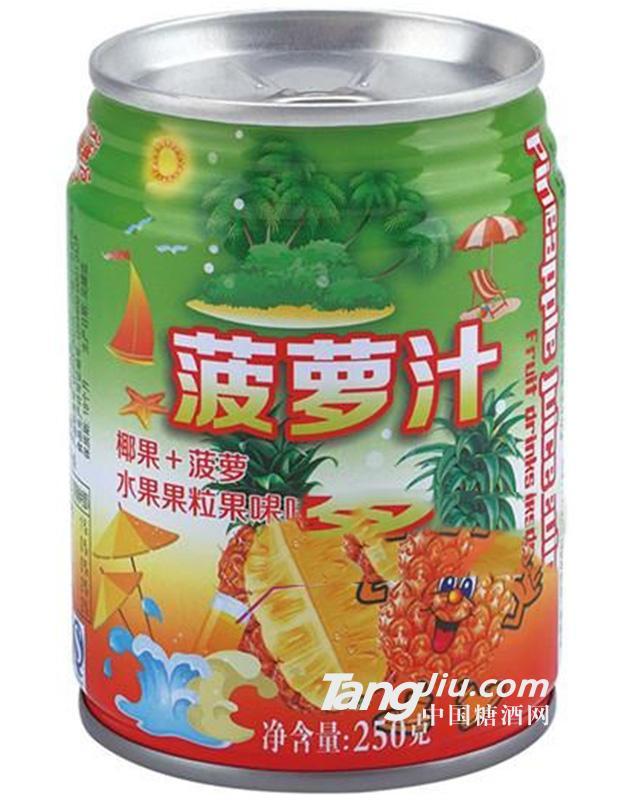 菠萝水果果粒果味饮料250g