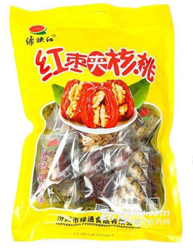 绿映红红枣夹核桃休闲食品380g