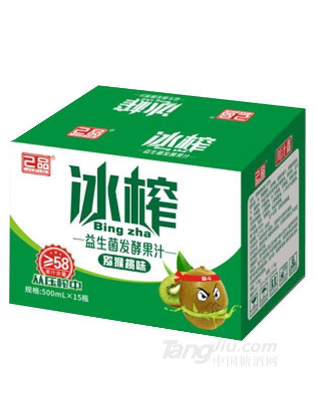 己品益生菌发酵果汁猕猴桃味500mlX15