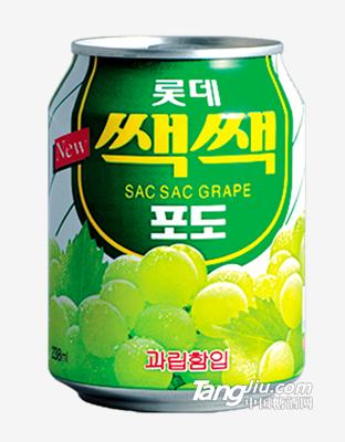 乐天粒粒葡萄汁饮料238ml