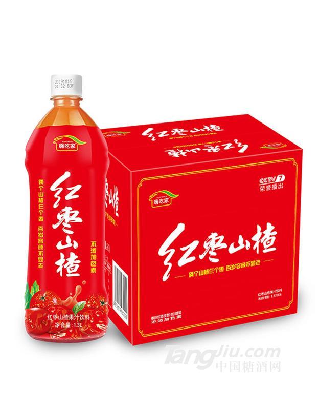 嗨吃家红枣山楂汁饮料1.3Lx6瓶