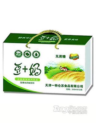 豆+奶无蔗糖250mlx12盒