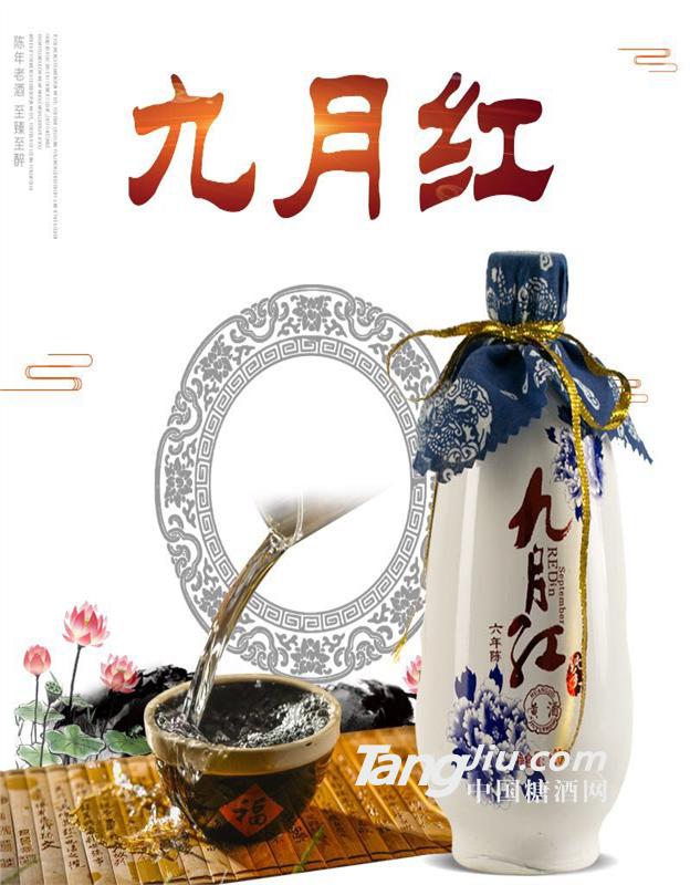 500ml九月红六年陈黄酒(青花瓷)