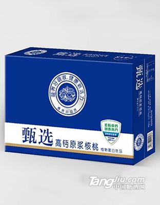 甄选高钙原浆核桃植物蛋白饮品箱装