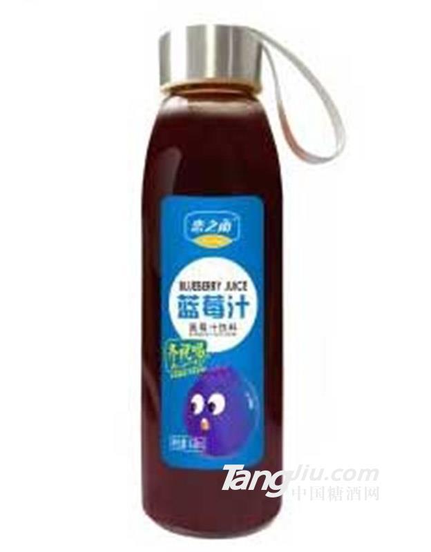 恋之雨玻璃瓶蓝莓汁饮料418ml