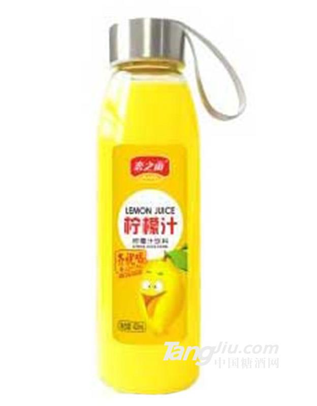 恋之雨玻璃瓶柠檬汁饮料418ml