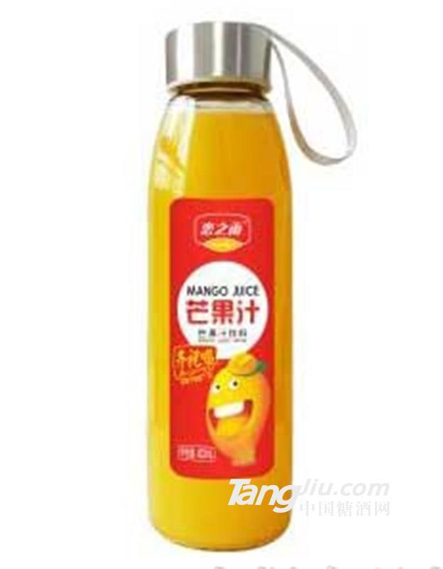 恋之雨玻璃瓶芒果汁饮料418ml