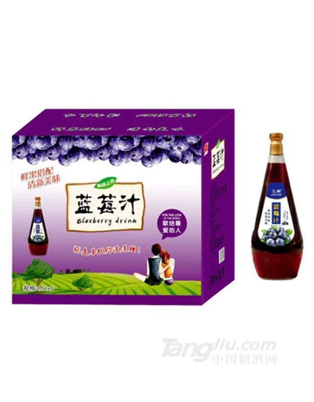 汇甜蓝莓汁1.5LX6瓶