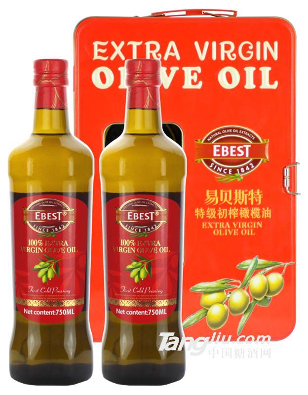 易贝斯特橄榄油尊典礼盒750mlx2
