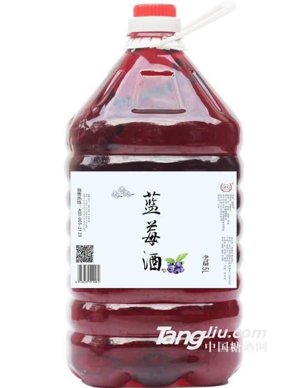12°黄氏蓝莓酒(桶装)-5L