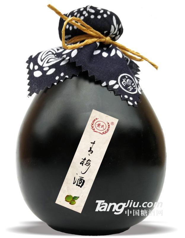 12°黄氏青梅酒(黑坛)-500ml