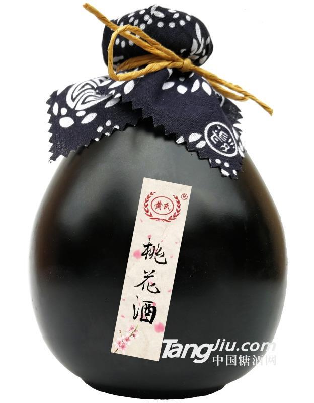 12°黄氏桃花酒(黑坛)-500ml