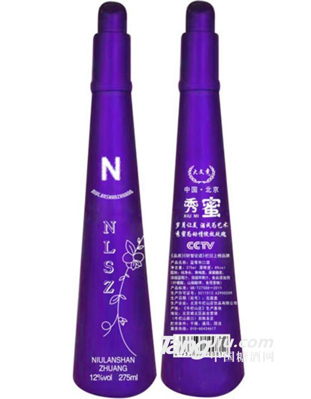 8度牛栏山庄秀蜜蓝莓利口酒-紫魅公主