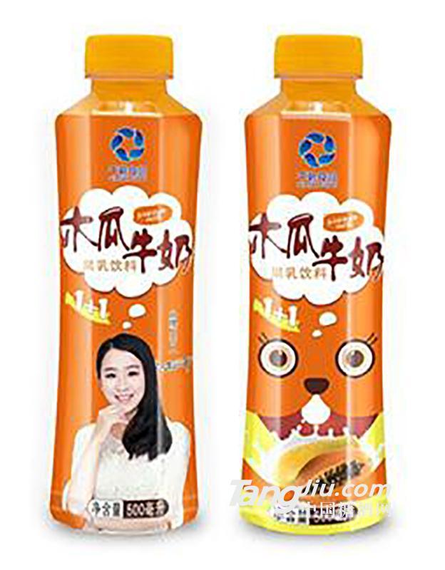 千碧食品木瓜牛奶500ml