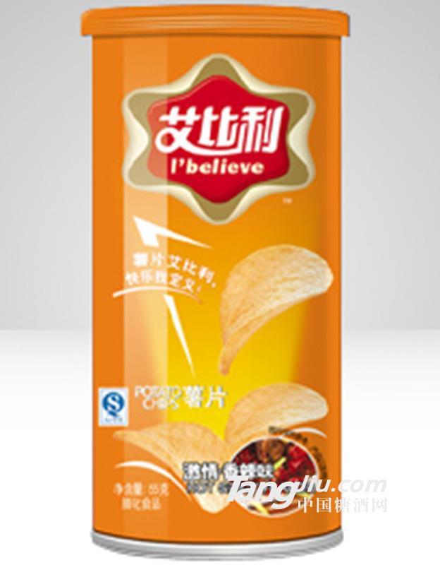 艾比利薯片罐装(55克) 邀请香辣味