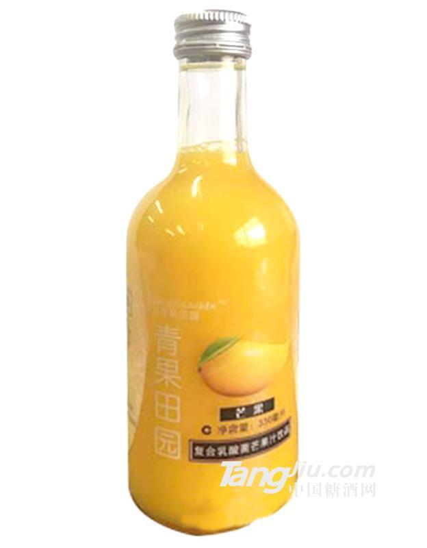 青果田园复合乳酸菌芒果汁饮料330ml
