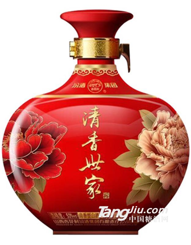 汾酒清香世家酒花开富贵1.5L