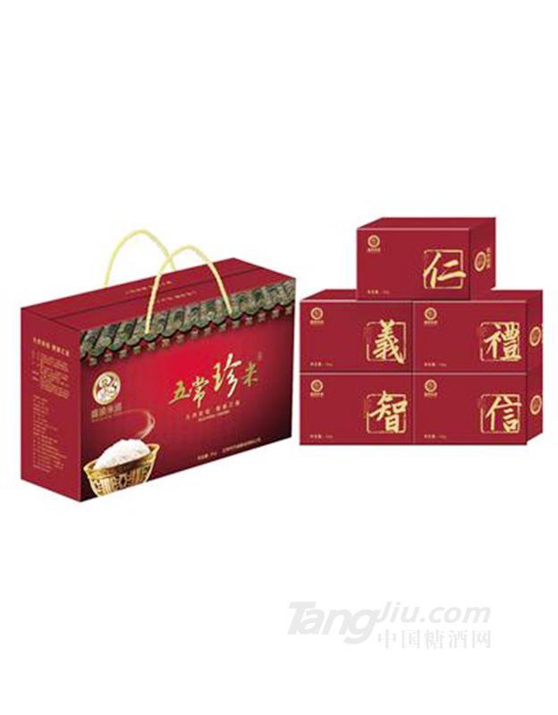 盛浪米道五常珍米红色箱装