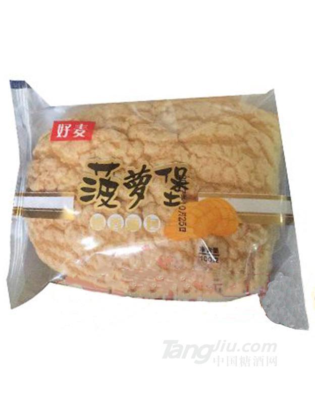 好麦菠萝堡奶香面包100g