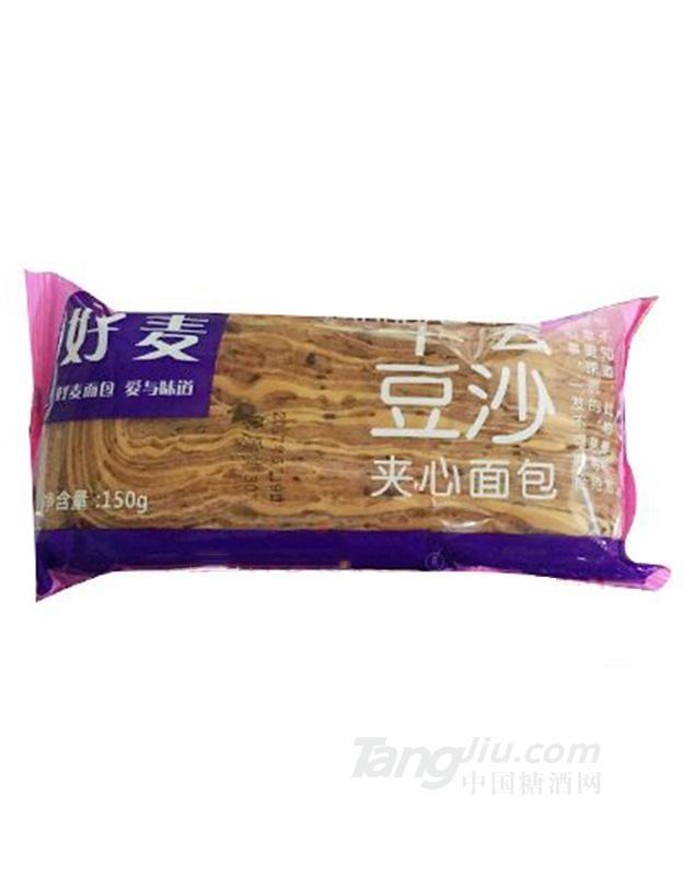 好麦豆沙夹心面包150g