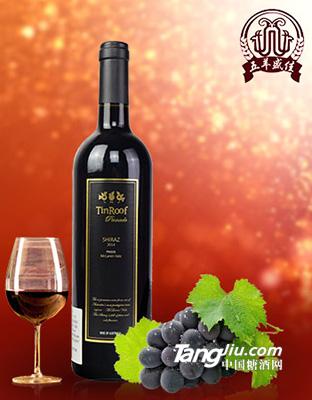 葶茹品尼克西拉红葡萄酒
