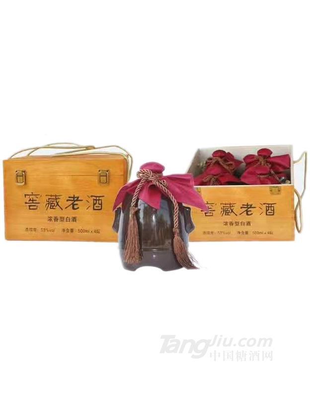 53°窖藏老酒-500mlx4