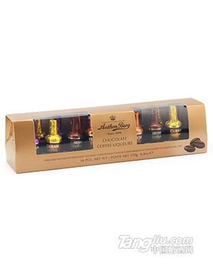 爱顿博格 咖啡味利口酒酒心巧克力 16支装