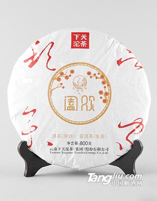 800克礼盒装阖欢饼茶2018