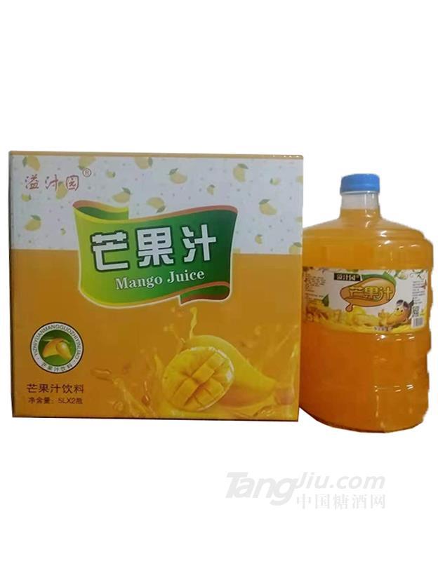 溢汁园芒果汁饮料5L×2瓶