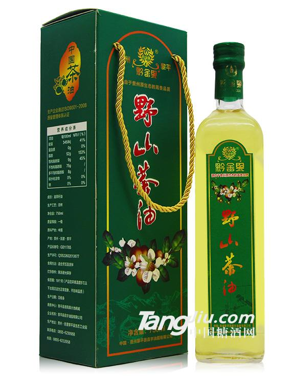 黔金果野生茶油750ml