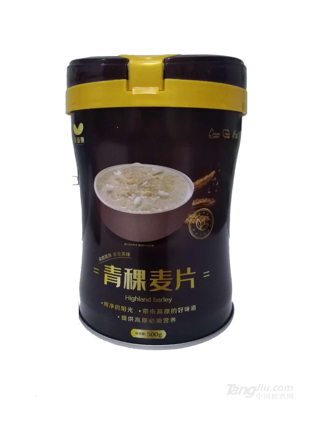 新绿康青稞麦片500g(桶装)