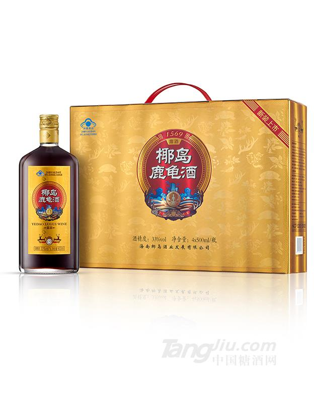 33°椰岛鹿龟酒500ml×4