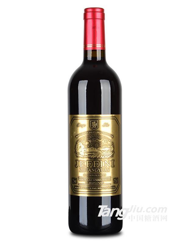 12°法国波尔多杰菲尼酒庄干红葡萄酒750ml
