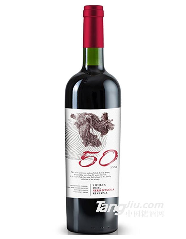 五月花14.5°50年老藤珍藏黑珍珠干红葡萄酒