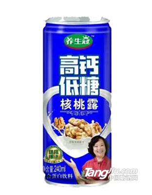 养生冠高钙低糖核桃露复合蛋白饮料
