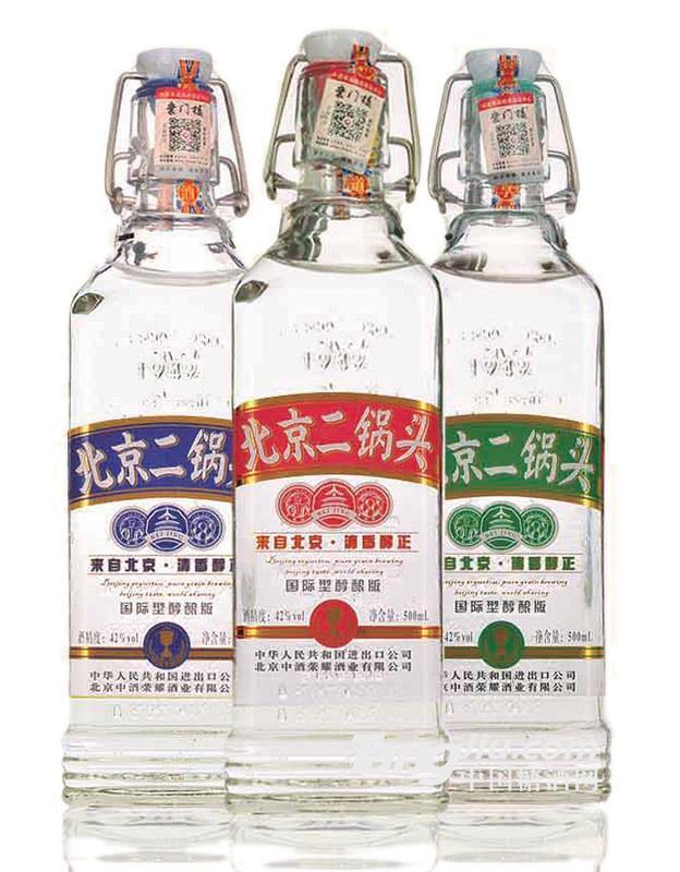 42°北京二锅头出口型小方瓶(醇酿版)-500mlx12