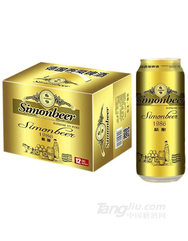 青岛中冉-西蒙精酿啤酒500ml