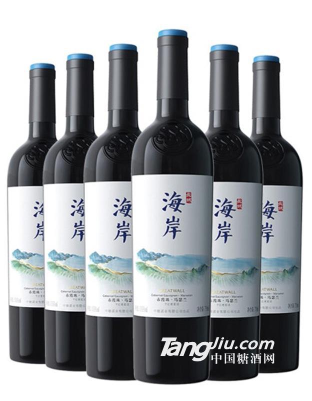 长城海岸赤霞珠马瑟兰干红葡萄酒