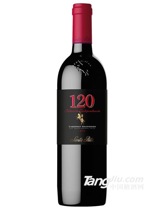 中粮名庄荟智利圣丽塔120黑金赤霞珠干红葡萄酒