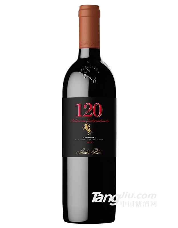 中粮名庄荟智利圣丽塔120黑金佳美娜干红葡萄酒