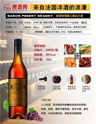 法国原瓶进口白兰地洋酒