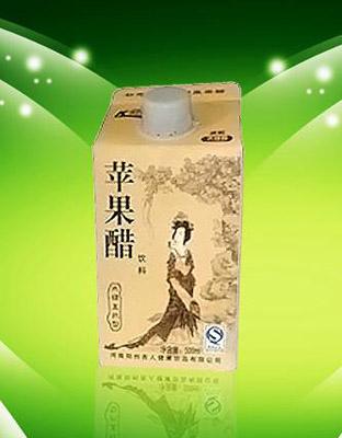 美女500ml纸盒低糖直饮苹果醋